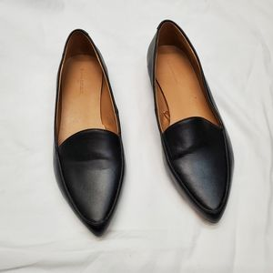 Black slip on loafers 7.5
